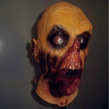 Halloween Adult Men Full Head and Neck Latex Zombie Rotting Death Mask