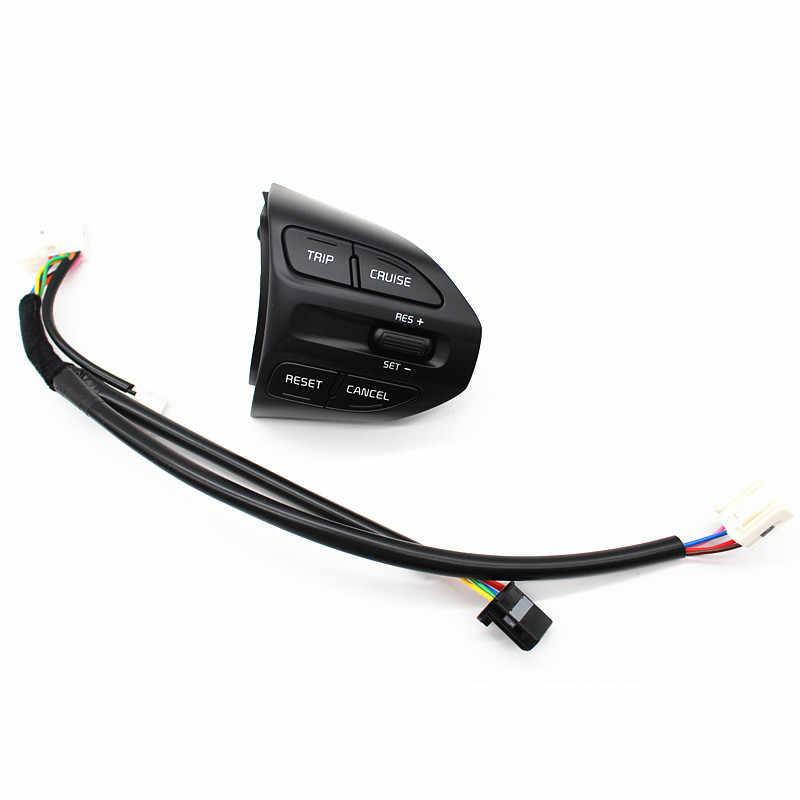 Бесплатная доставка Кнопка управления рулем для KIA K2 RIO 2017 кнопки телефона круиз контроль громкости переключатель автомобильные аксессуары