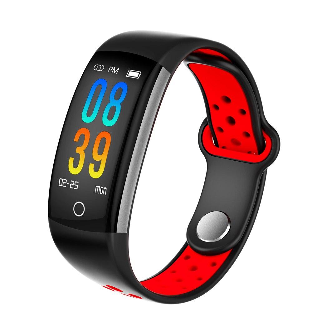 Pulsera inteligente mujeres Q6 Bluetooth Smartwatch hombres ritmo cardíaco reloj del deporte del Monitor Fitness Tracker para Android IOS