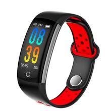 Смарт браслет Q6 для женщин, умные часы с Bluetooth, пульсометром, тонометром, спортивные часы, фитнес трекер для Android IOS