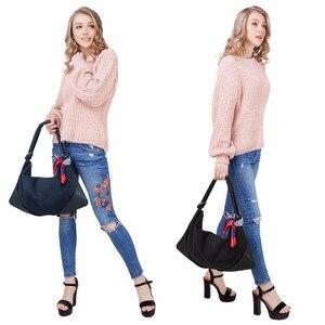 Image 3 - Sacs à Main en cuir suédé pour femmes, Sac à bandoulière Fashion Hobo, Sac de loisirs Shopping décontracté