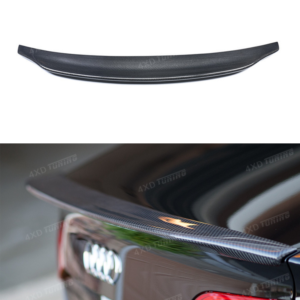 For Audi A4 Carbon Spoiler Caractere Style A4 B8 Carbon Fiber Rear Spoiler Trunk wing Sedan 4-Doors car 2009 2010 2011 2012