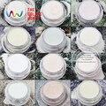 TCRT-002 Íris Iridescente Branco com Várias Cores forma de Hexágono 0.1 MMsizes Glitter para nail art unhas de gel, maquiagem e DIY