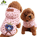 Pet Dog Autumn Winter Warm Cotton Wool Bear Printed Coat Jacket Small Baby Sportwear Pet Yorkshire Chihuahua Clothes For Dogs