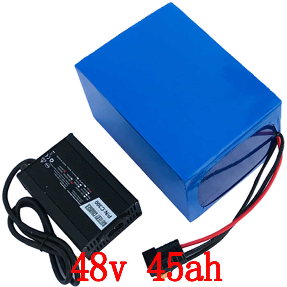 48V 45AH 2000W Electric Bike Battery 48V 45AH Lithium ion battery pack 48V 45AH Scooter Battery with 54.6 5A charger