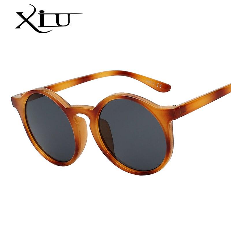 XIU Klassische Runde Vintage Sunglasse Frauen Marke Designer Weiblich Brille Retro Sonnenbrillen Top-qualität UV400
