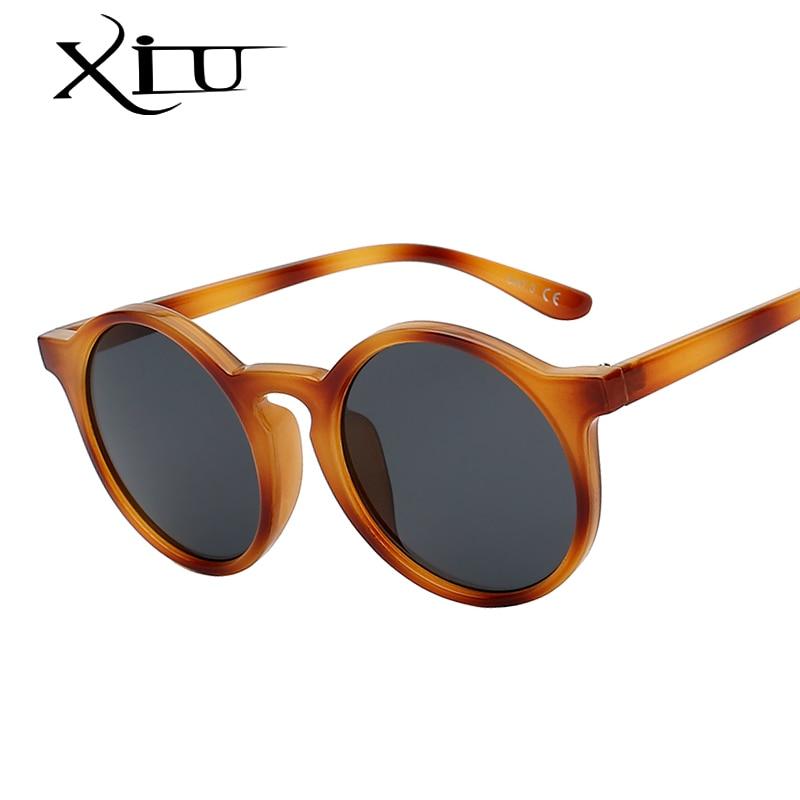 XIU Rotondo Classico Vintage Sunglasse Donne Del Progettista di Marca Occhiali Retro Occhiali Da Sole Moda Femminile di Alta Qualità UV400