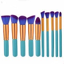 New Fashion Professional Makeup Brush Set 10pcs High Quality Tools Kit