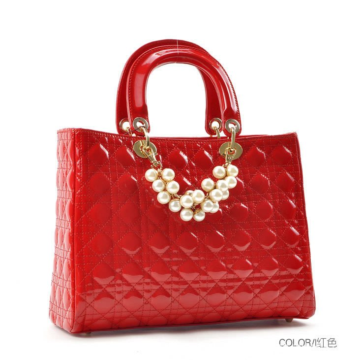 European elegant plaid bridal female bags Totes women handbag girl ...