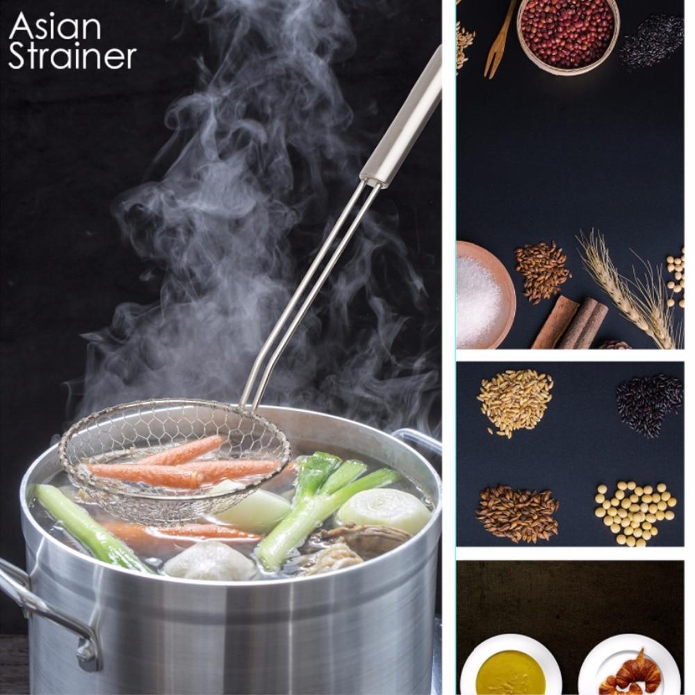 Asiatische Küche Edelstahl Spinne Sieb Draht Skimmer mit Spirale ...