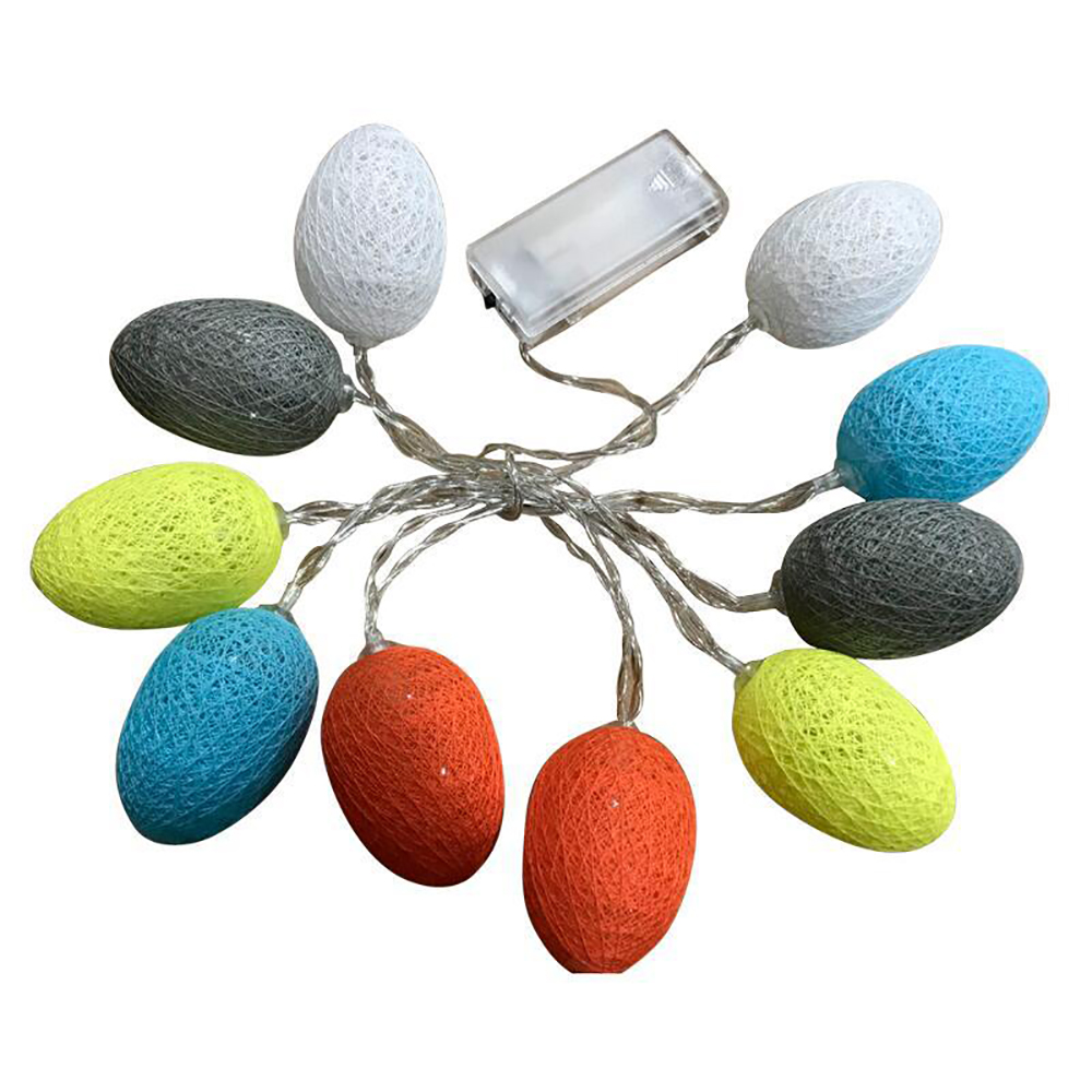 Frank 1.8m/3.2m Cute Led Colorful Easter Egg String Lamp Garland Balcony Diy Home Bar Easter Decoration Easter Supplies Home & Garden