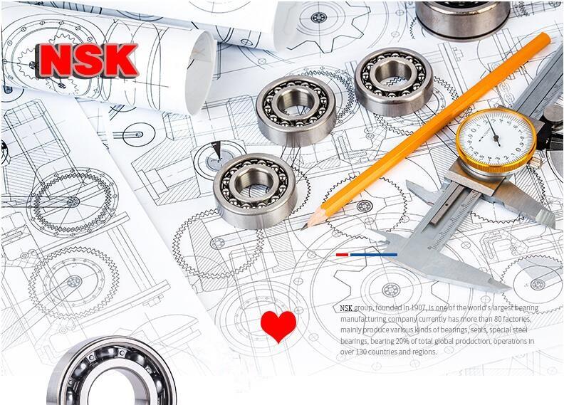 Original NSK deep groove ball bearing series 6203ZZ and 6203DDU