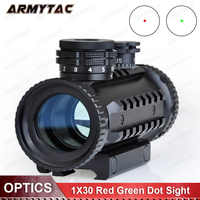 1X30 Red Green Dot Sight Tactical Optical Scope Airsoft Riflescope Hunting Rifle Scope