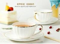Royal Porcelaine Britannique Noir Thé Tasse Creative potiron tasse et plat Britannique après-midi thé de Luxe En Céramique Tasses À Café comme cadeau