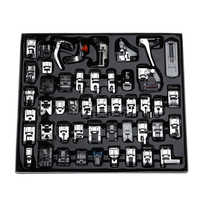 ABKM Hot Professional 48pcs Sewing Machine Presser Feet Set for Brother, Babylock, Singer, Janome, Elna, Toyota, New Home, Sim