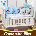 5PCS Set newborn baby bedding set cotton infant baby cot  bedding set baby crib bumpers baby bed bumper 10 patterns CP01