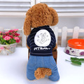 New Winter Dog Clothes Warm Soft Jean Thick Teddy Pet Clothing Four Feet  Soft Long Sleeve Button Pet Supplies