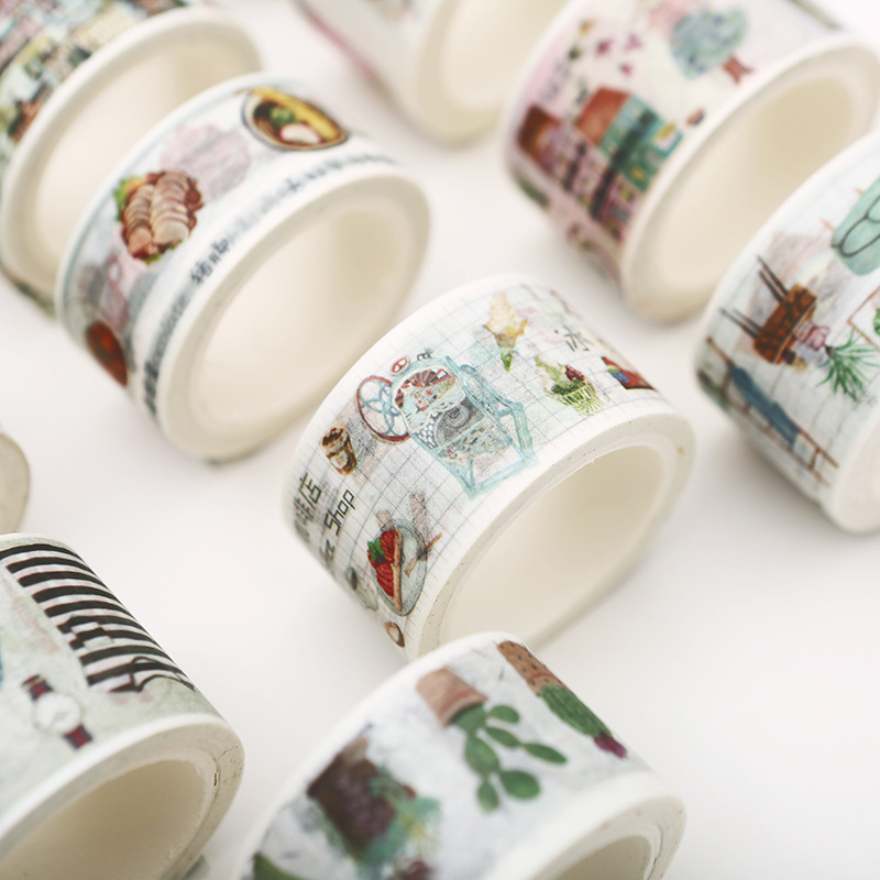 Fresh Art Food And Life Washi Tape Cactus Adhesive Tape DIY Scrapbooking Sticker Label Masking Craft Tape