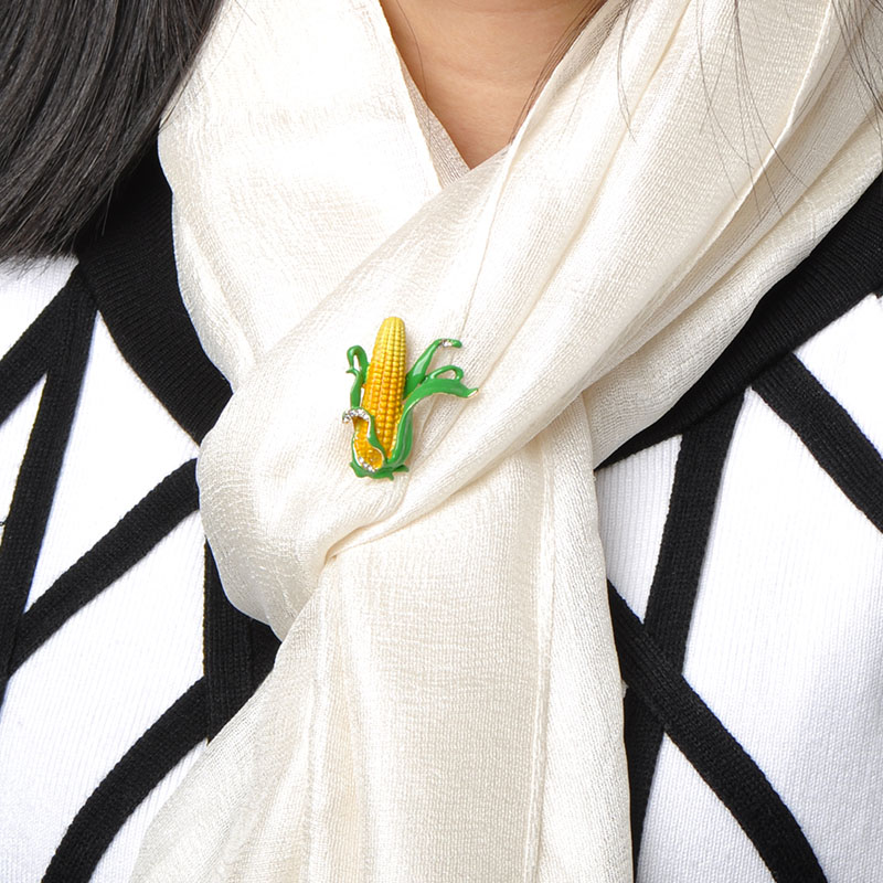 Blucome Νίκαια Κίτρινο καλαμπόκι - Κοσμήματα μόδας - Φωτογραφία 5