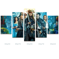 HDARTISAN Canvas Art 5 Pieces Pictures Combination Wall Pictures For Living Room Home Decor Movie Printed