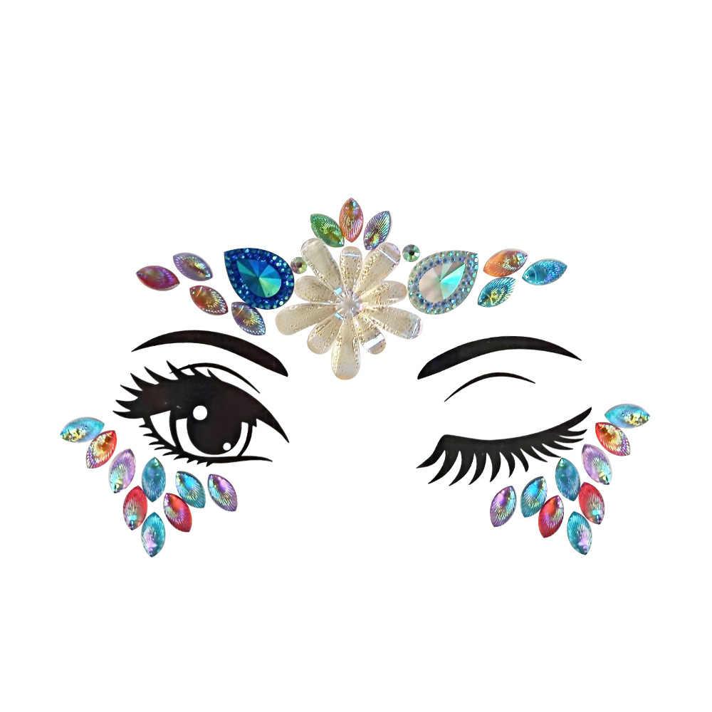 Baru Bunga Series Face Perhiasan Pantai Pesta Berlian Shell Series Pesta Musik Dada Boby Seni Klub Malam Sementara Tato