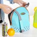 New FashionNew Isolados Refrigerador de Bebidas Alimentos Térmica Tote Almoço Saco Do Piquenique À Prova D' Água Da Lona saco de Mão lancheira Crianças Adultos
