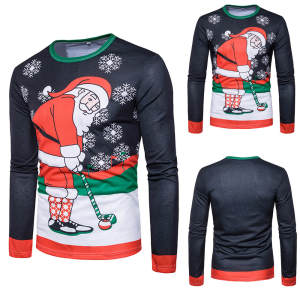 Blouse Pullover Christmas Fashion-Style Quality Man Winter Casual 3L60 Sunfree Tops Main-Product