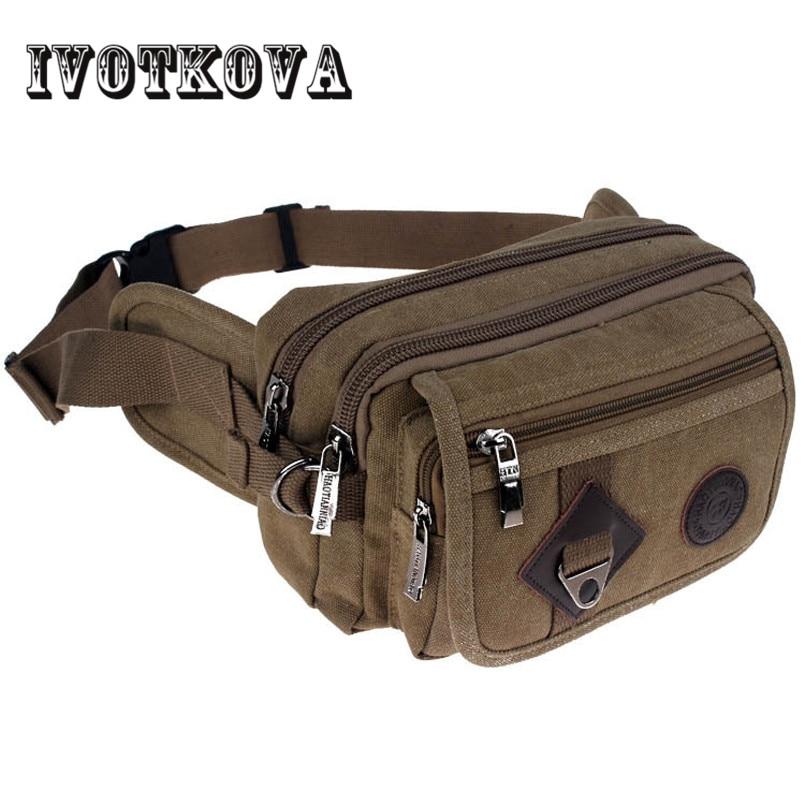IVOTKOVA férfi férfi derék táska csomag alkalmi magas minőségű nylon fanny csomag táska váll könnyű érme telefon öv táska ember