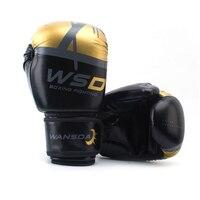 Schwarz/Rosa/Gold Männer/Frauen Boxhandschuhe für Sandsack Punch Ausbildung MMA Muay Thai Sanda Karate Mitt ausrüstung