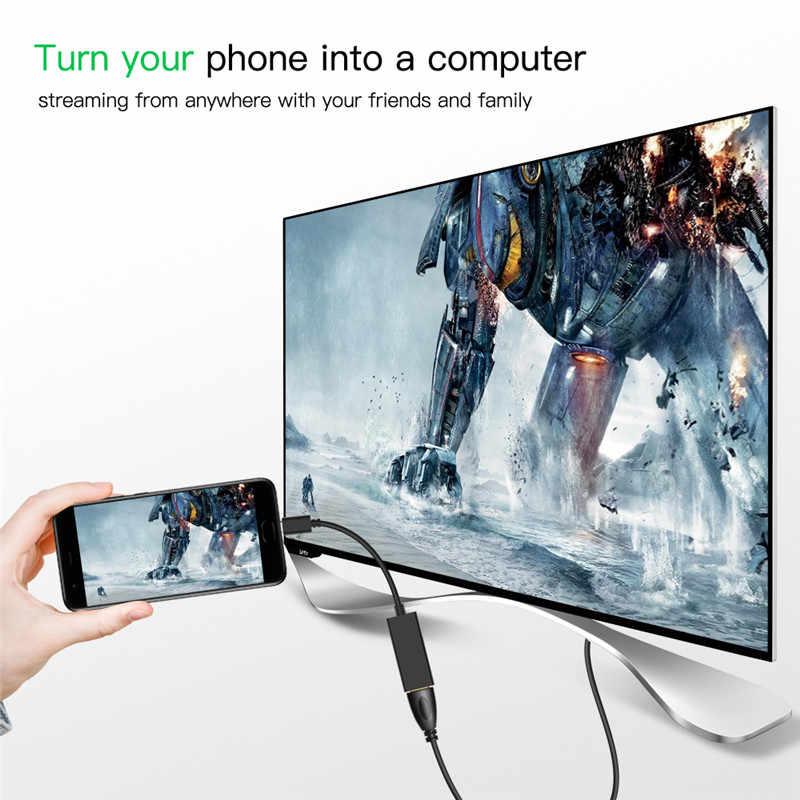 USB C كابل 4 K نوع-C إلى محول HDMI HDTV الصوت الفيديو تحويل USB نوع C كابل لسامسونج غالاكسي بوك هواوي Mate10 P20
