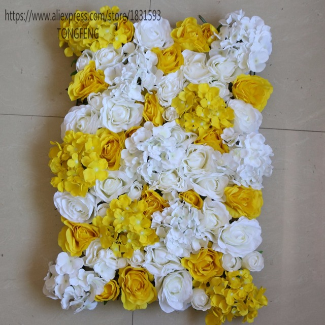 New white and yellow 10pcslot artificial silk rose hydrangea new white and yellow 10pcslot artificial silk rose hydrangea flowers wall wedding background decoration mightylinksfo