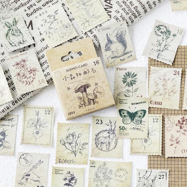 Bosque Post sello pegatinas decorativas adhesivos DIY decoración diario papelería diario pegatinas planificador 2019