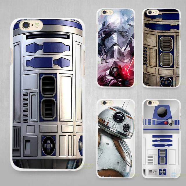 US $1 67 44% OFF|Star wars R2D2 Hard White Cell Phone Case Cover for Apple  iPhone 4 4s 5 5C SE 5s 6 6s 7 8 Plus X-in Half-wrapped Cases from