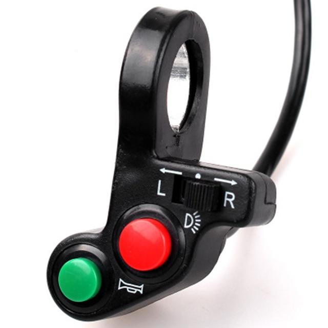 3 Di 1 7/8 Inci Motor Switch Listrik Skuter ATV Quad Lampu Turn Sinyal Tanduk Tombol On/Off untuk 22 Mm Diameter Setang