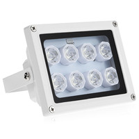 NEW Infrared Illuminatoring 8 Array IR LEDS Night Vision Wide Angle Outdoor Waterproof For CCTV Home Security