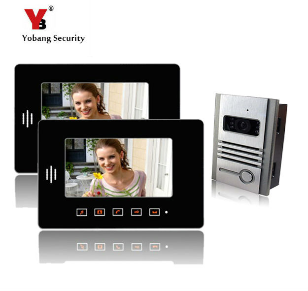 Yobang Security freeship 7 inch Video Intercom video Doorbell Answering System for Apartment Office Door Access Control System