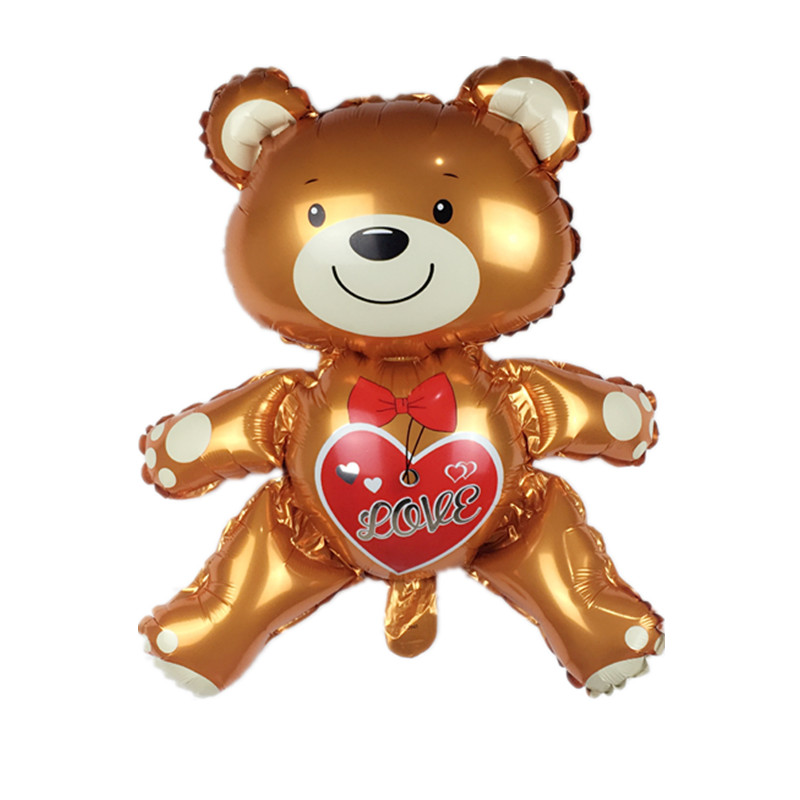 XXPWJ 1pcs Free shipping new love bear aluminum balloon children's toys party bi