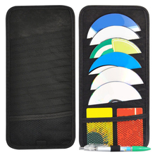 Car Accessories 32x15 cm size cD Holder Black 12 disc slot Polyester Storage Organizer High quality Practical