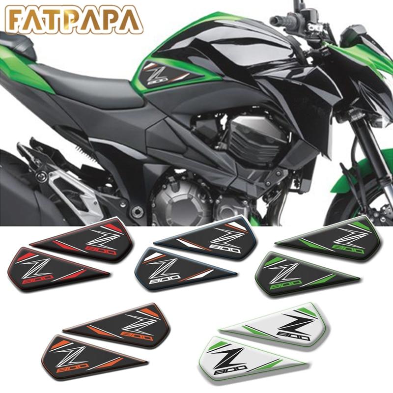 FOR KAWASAKI Z800 Motorcycle Parts Fuel Tank Slip Guard 3D Sticker Decal