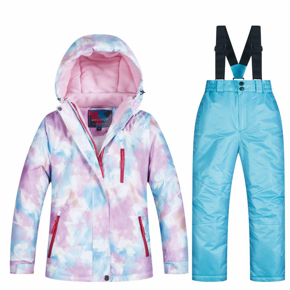 Trẻ em Trượt Tuyết Phù Hợp Với Trẻ Em Thương Hiệu Không Thấm Nước Windproof Ấm Cô Gái Và Chàng Trai Tuyết Đặt Quần Mùa Đông Trượt Tuyết Và Trượt Tuyết Áo Khoác Trẻ Em