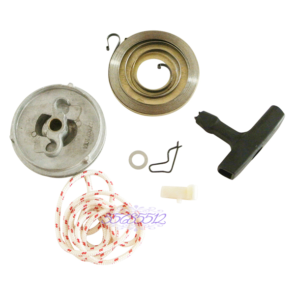 Recoil Starter Grip Pawl Spring Pulley Rope Rotor Kit Fit For STIHL 038 MS380 MS381