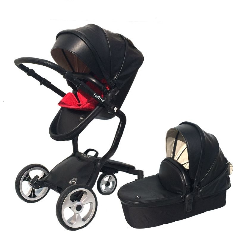 Luxury foofoo shock absorbers baby stroller two-way Brands 2 in 1 stroller for children car poussette buggy High View Prams