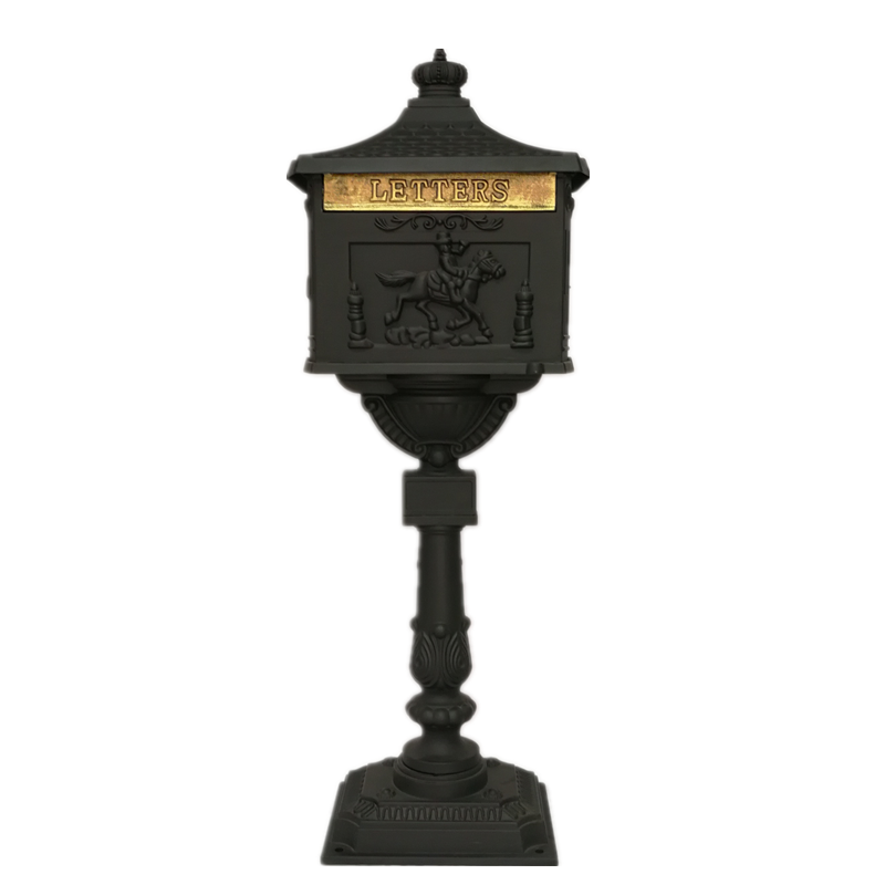 Security Stand Mailbox With Lock Cast Aluminum Mail Box Postal Box For Apartment Villa Home Garden