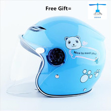 2019 New motorcycle children helmet half face with cartoon pattern age:2-9 size:49-53cm 11 kinds of color