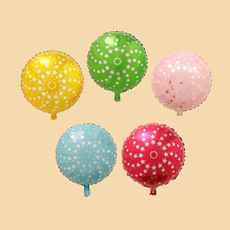Popigist алюминиевой фольги шары Звезда шар Обручальное украшения Дети воздушный шар латекса Рождество Свадьба шары 1 год
