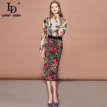 Skirt Elastic Waist Bodycon Rose Floral Leopard Print Midi Pencil Skirts