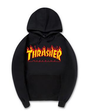 2017 High Quality Mens Thrasher Sweatshirt Hoodies trasher Skateboards Hoodie Male 100 Cotton Sweat Thrasher Sweatshirt