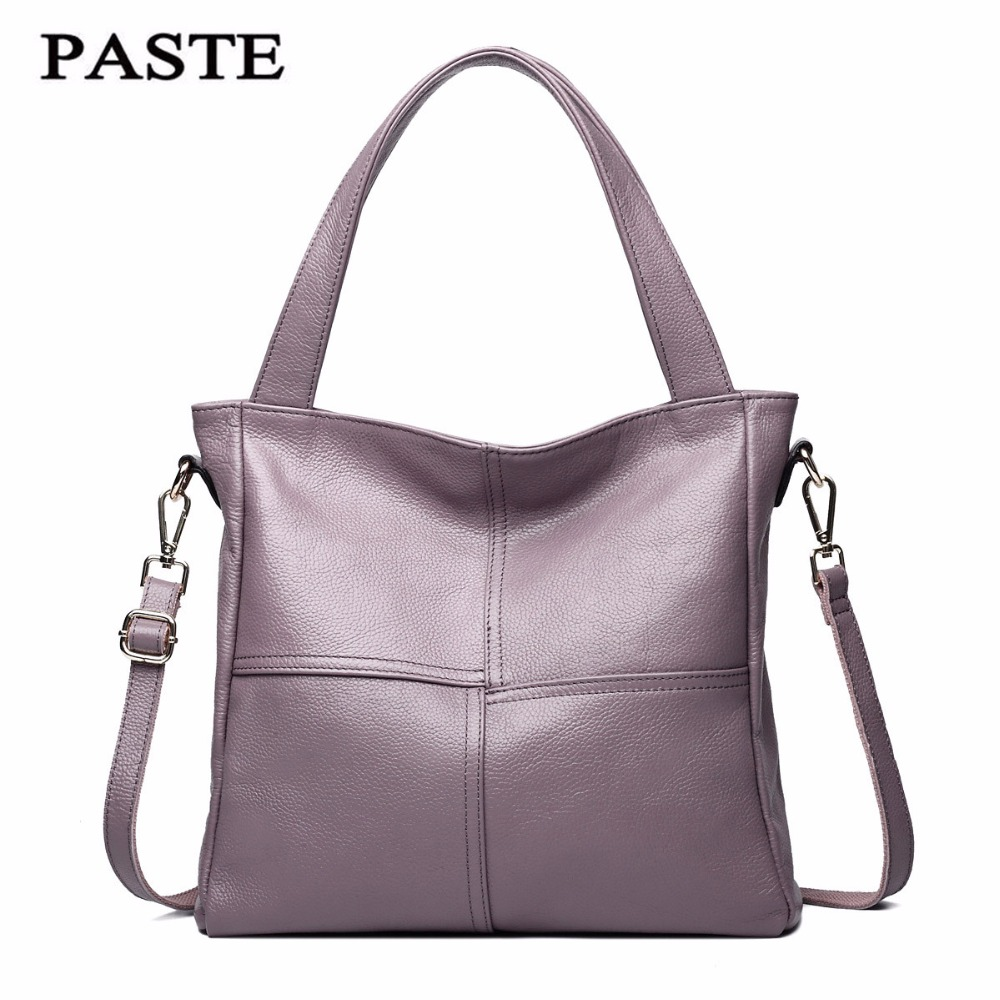 PASTE brand handbag women genuine leather bag female hobos shoulder bags high quality leather ON SALE 2018