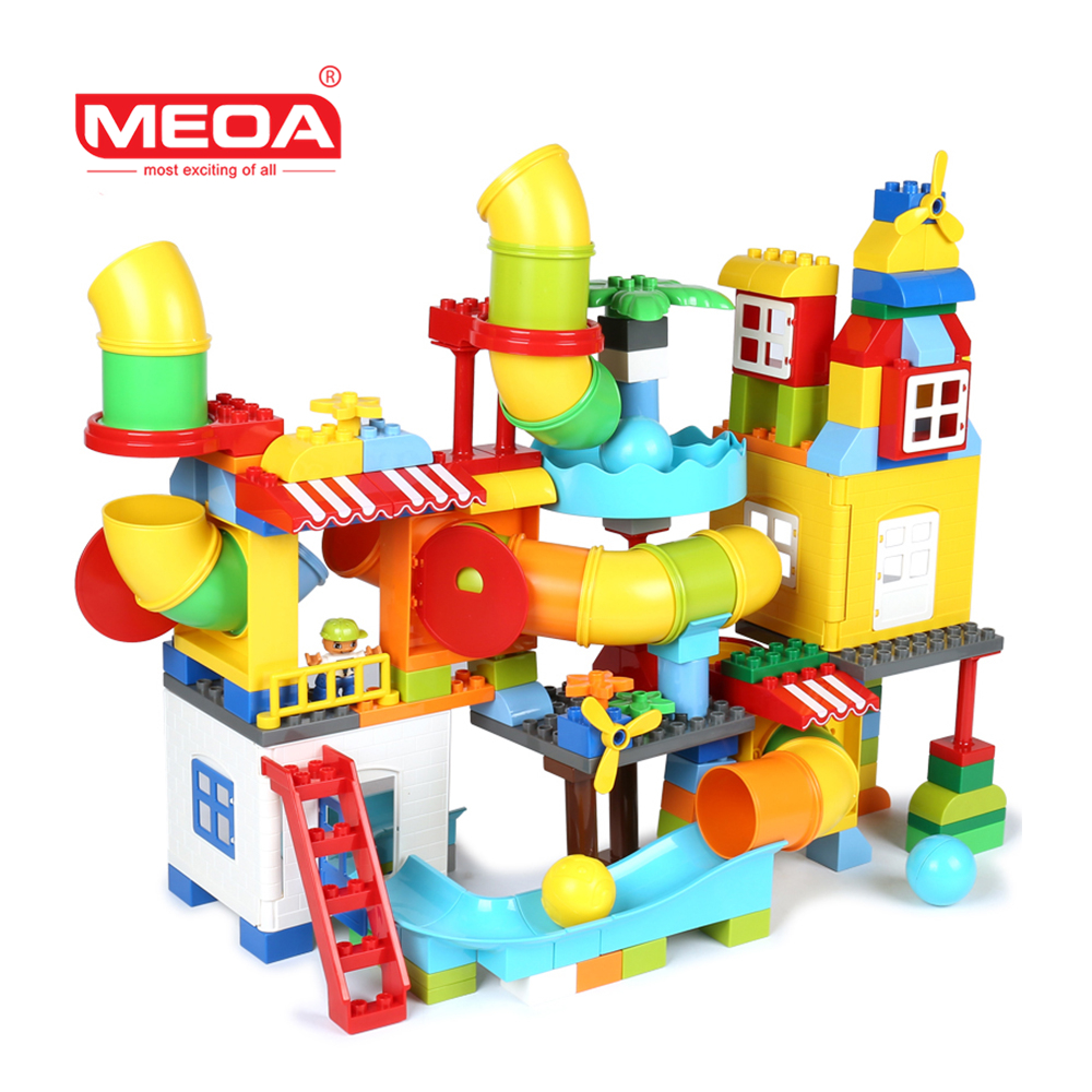 MEOA 150PCS Pipeline Blocks Educational Toy Create Tunnel Building Brick Pipe DIY Assembling Toy For Kids t3184b educational toy coin slide chip game toy playing toy set