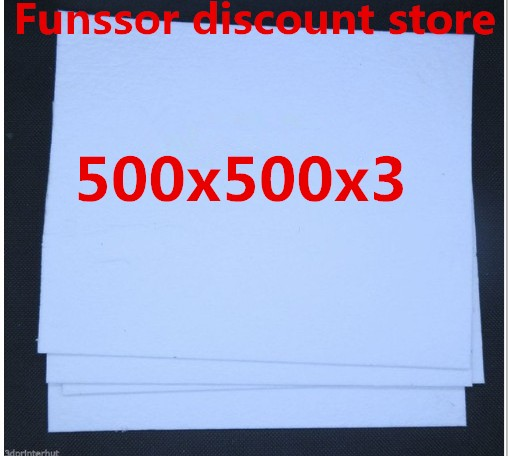 Funssor 6pcs 3D Printer Heated Bed 500x500 Mm Insulation Cottons 3 Mm Thickness Heated Bed Insulation Cotton Plate